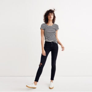 Madewell TALL High RIse Skinny Black Jeans